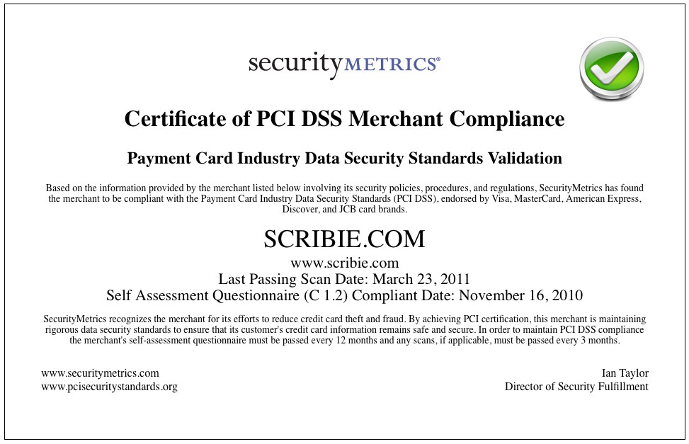 pci dss compliance Separate from the mandate to comply with pci dss is the validation of compliance validation identifies vulnerabilities and ensures that appropriate levels of.