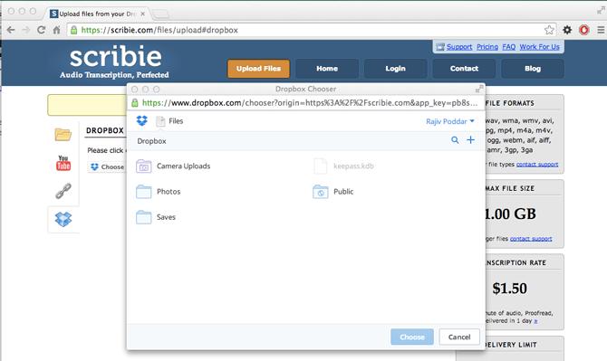 Dropbox Integration - Scribie Blog