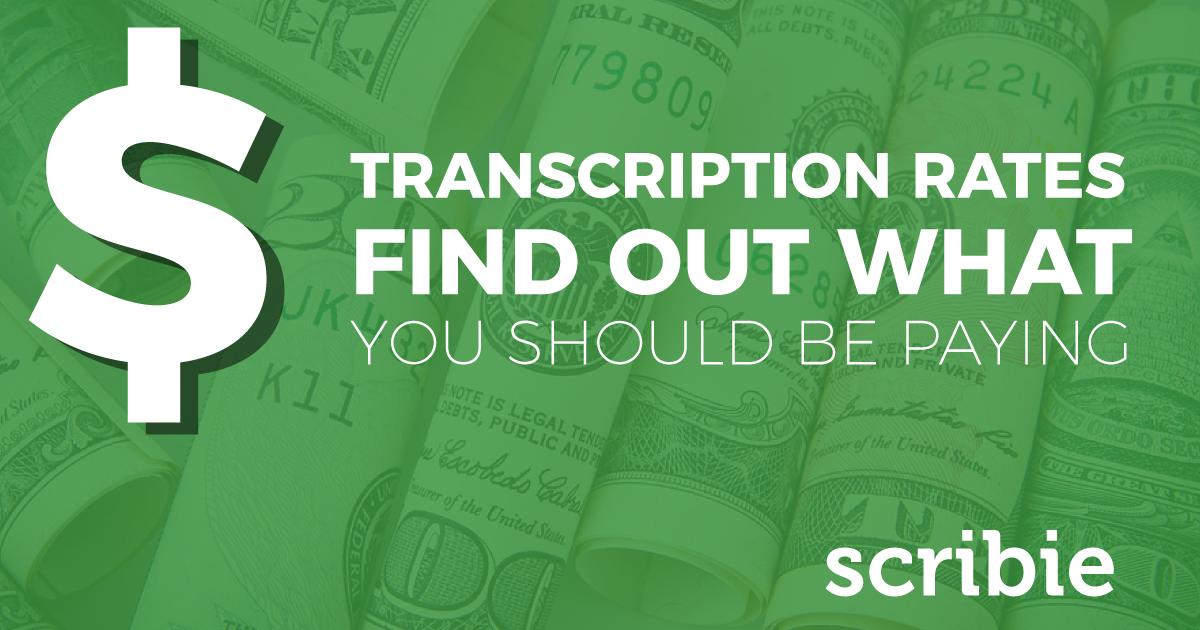 Transcription Costs Scribie