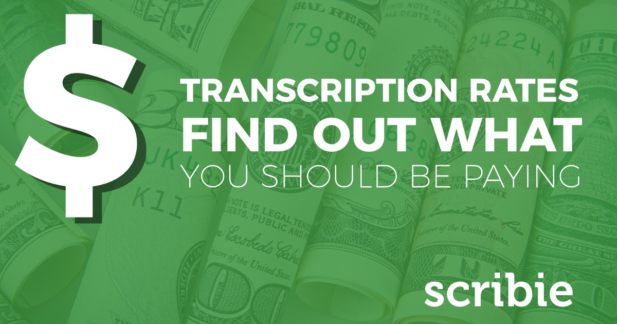 Transcription Costs Scribie