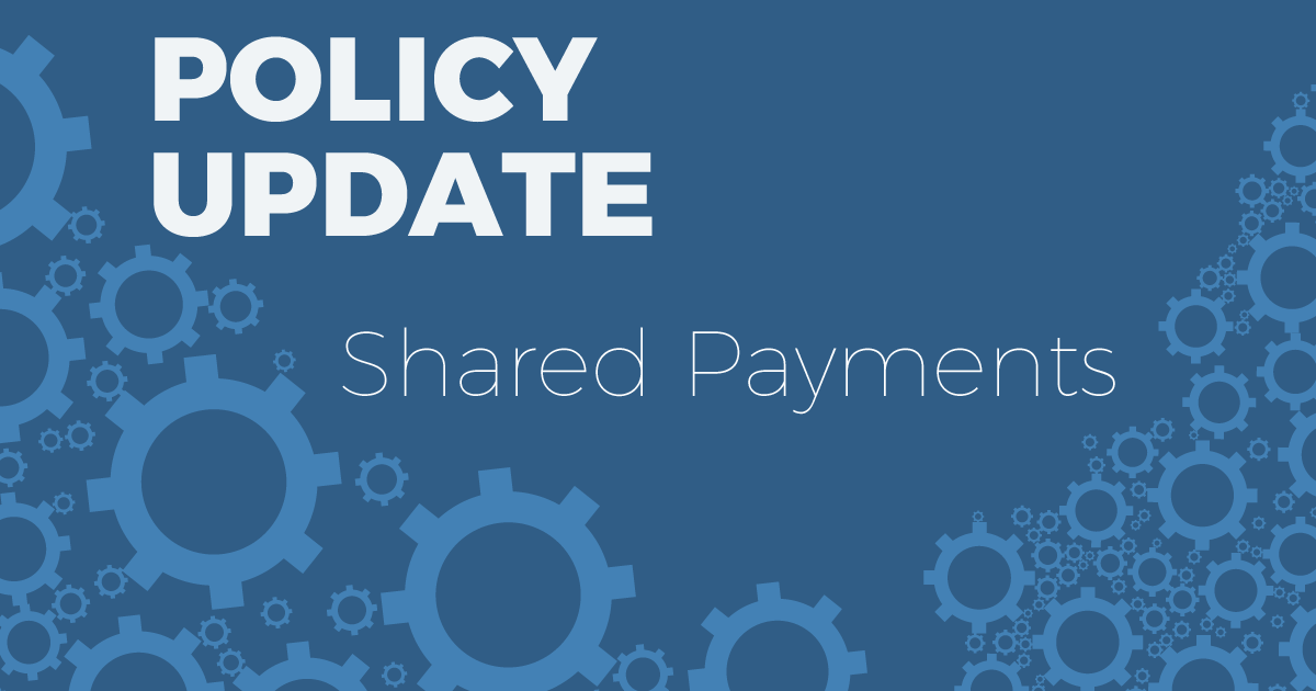 Scribie Policy Update Shared Payments