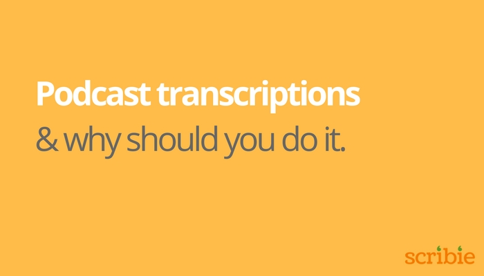 Podcast transcription