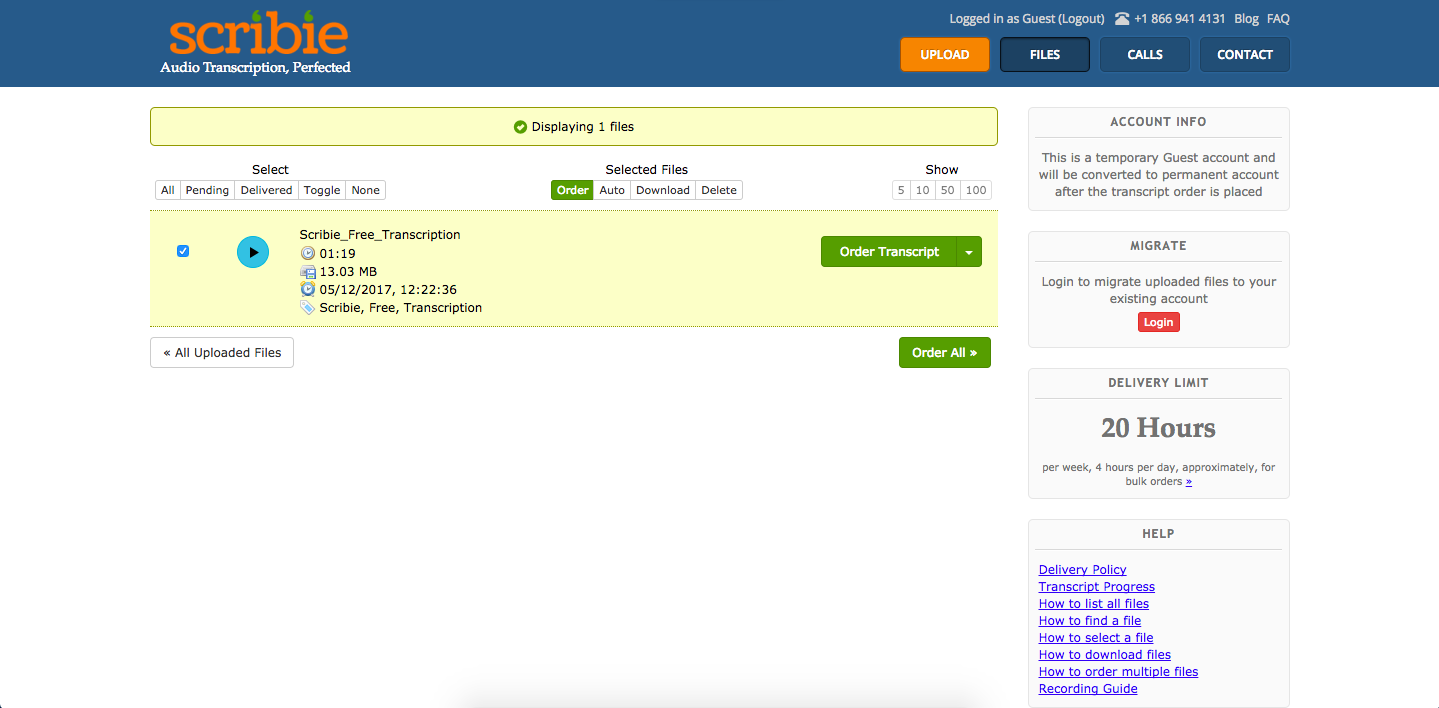 How to get your free automated transcripts from Scribie - Scribie Blog