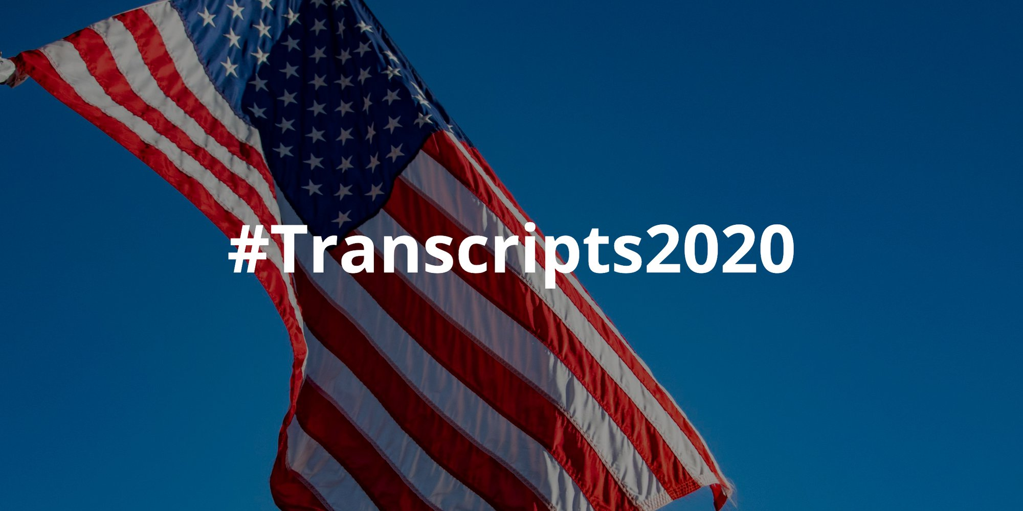 Announcing #Transcripts2020: Scribie's Transcription Initiative for the 2020 Presidential Elections