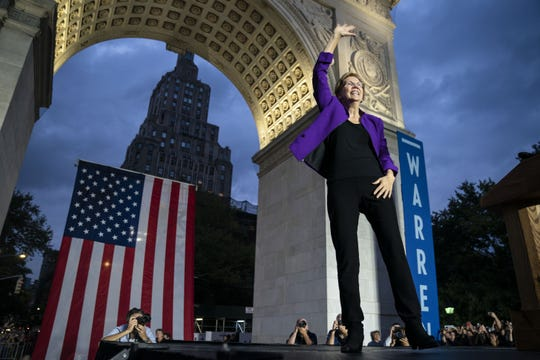 Elizabeth Warren Speech in Washington Square Park, 9/16/19