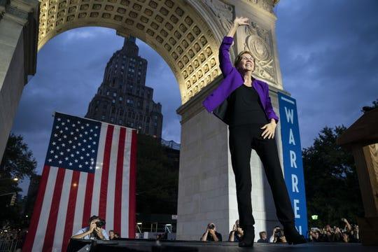 Elizabeth Warren Speech in Washington Square Park, 9/16/19