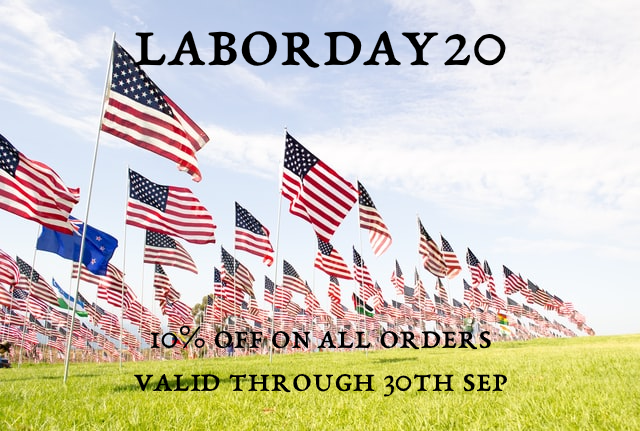 LABORDAY20 Discount Coupon